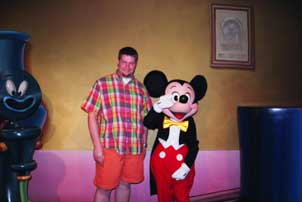 Me and My Little Buddy Mickey Mouse at Disneyland